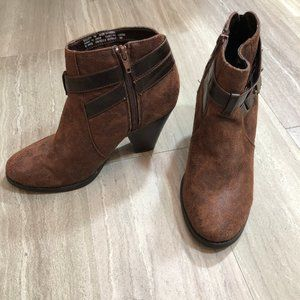 Maden Girl brown faux leather Sulleyy ankle boots